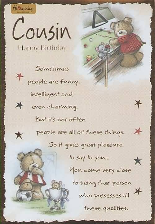 Birthday Wishes For Cousin Funny ~ Cousin birthday wishes page nicewishes