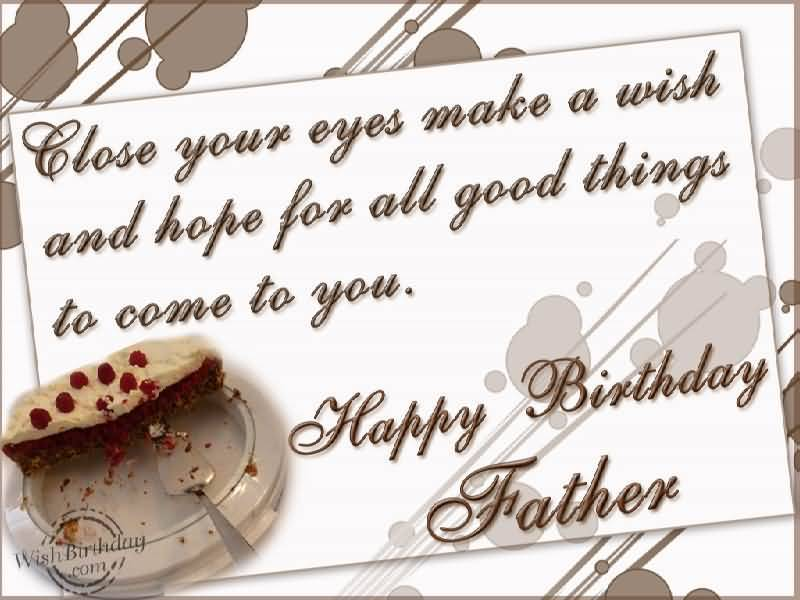 Sweet Cake Birthday Wishes For Father In Law E-Card