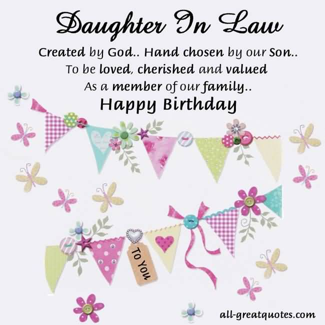 Sweet Quotes Birthday Wishes For Daughter In Law Greetings