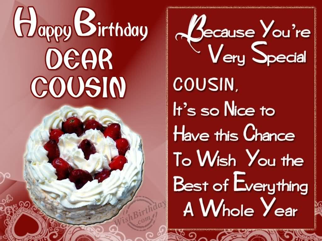 Ultimate Cake Birthday Wishes For Dear Cousin Nicewishes