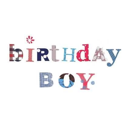 White E-Card Birthday Wishes For Boy