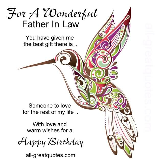 Wonderful Greetings Birthday Wishes For Father In Law Quotes