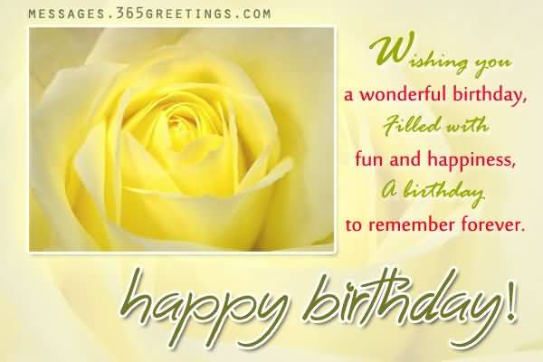Wonderful Yellow Rose Birthday Wishes For Aunt Nicewishes