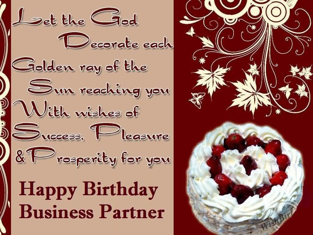 Awesome Delicious Cake Birthday Wishes For Business Partner E-Card