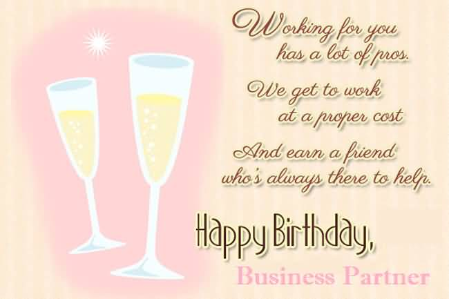 Awesome Greetings Birthday Wishes For Business Partner