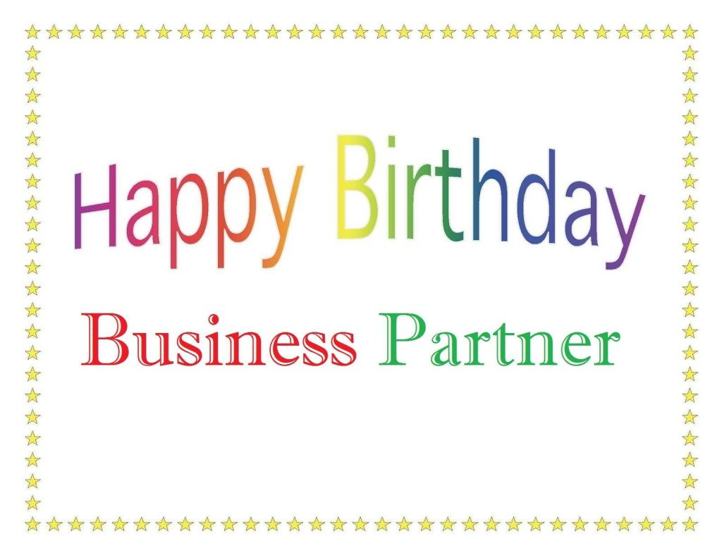 Nice Greetings Birthday Wishes For Dear Business Partner