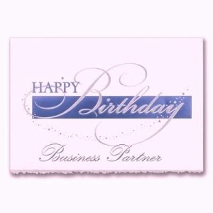 Simple E-Card Birthday Wishes For Business Partner