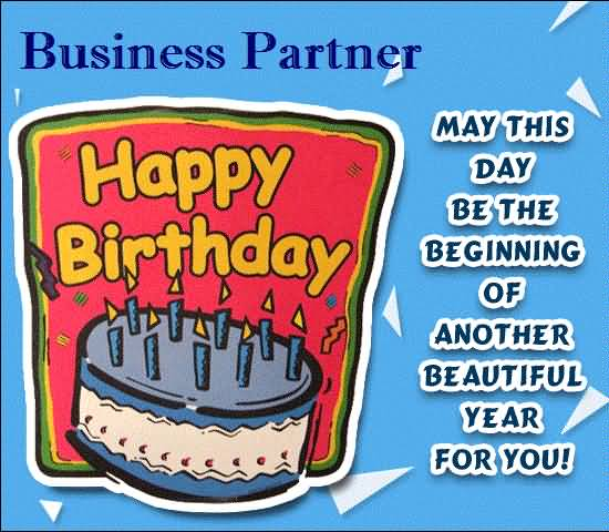 Superb E-Card Birthday Wishes For Business Partner