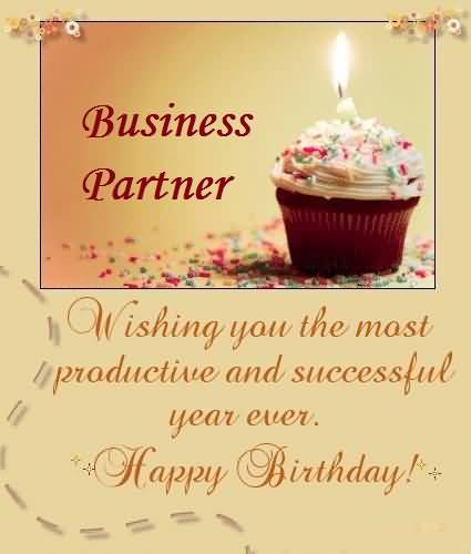 Sweet Cup Cake Birthday Wishes For Best Business Partner Greetings – Business Birthday Greetings