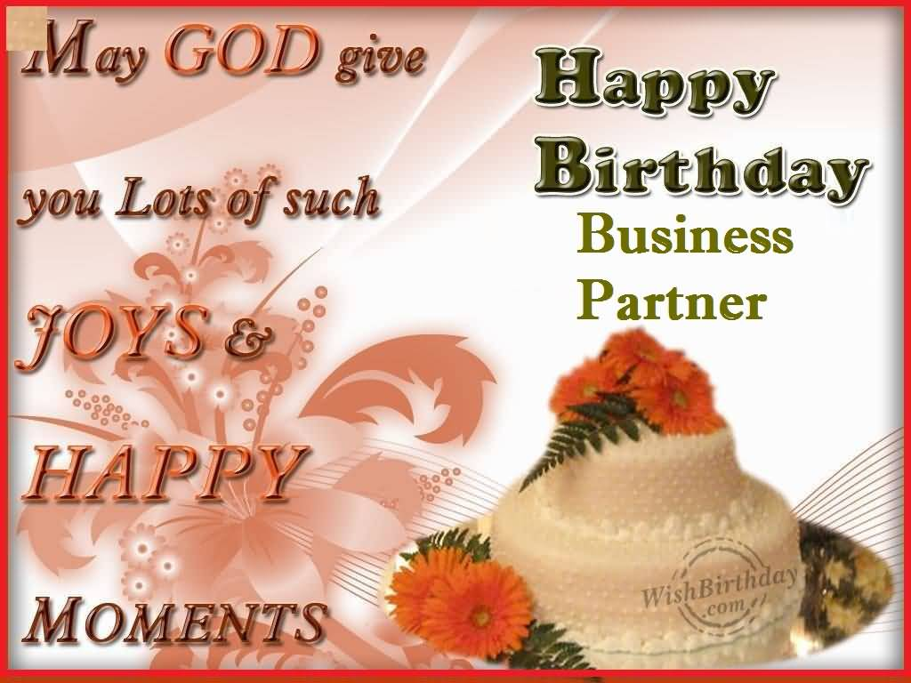 Wonderful Greetings Birthday Wishes For Business Partner Nicewishes