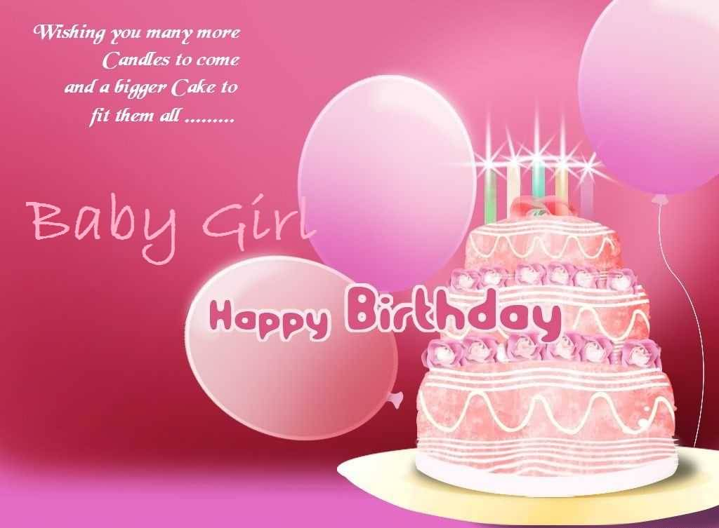 Birthday Wishes For Baby Girl Nicewishes Com Happy Birthday Wishes To My Baby