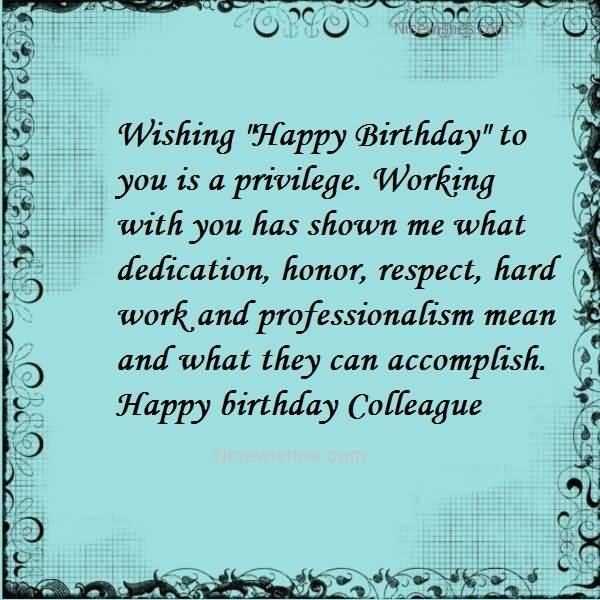 Awesome Design ECard Birthday Wishes For Colleague NiceWishes – Birthday Greetings to a Colleague