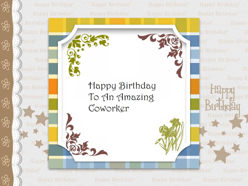 Awesome E-Card Birthday Wishes For Amazing Coworker