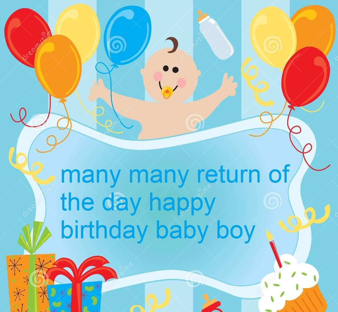 Sweet E Card Birthday Wishes For Baby Boy Nicewishes