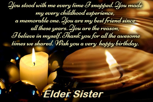 Awesome Message Birthday Wishes For Elder Sister