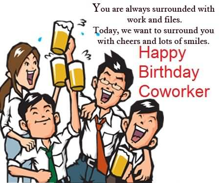 Best Birthday Wishes For Coworker E Card
