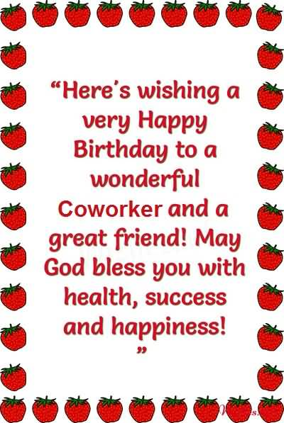 Best E-Card Birthday Wishes For Coworker