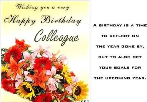 Nice Poem Birthday Wishes For Colleague E-Card   Nicewishes.com