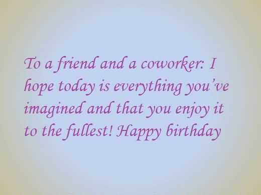 Best E-Card Birthday Wishes For Nice Coworker