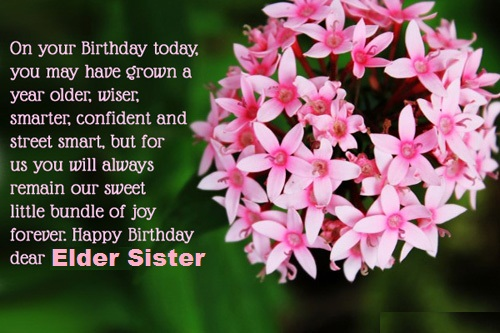 Best Message Birthday Wishes For Elder Sister E-Card