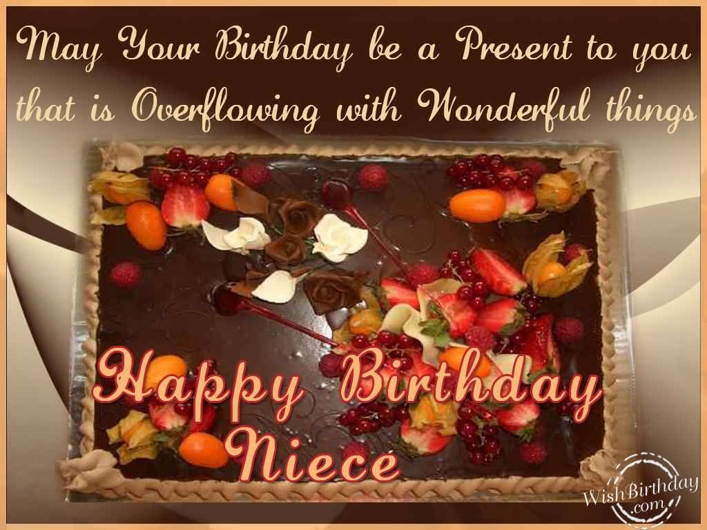 Birthday Cake Images For A Niece : Chocolate Cake Birthday Wishes For Niece Greetings ...