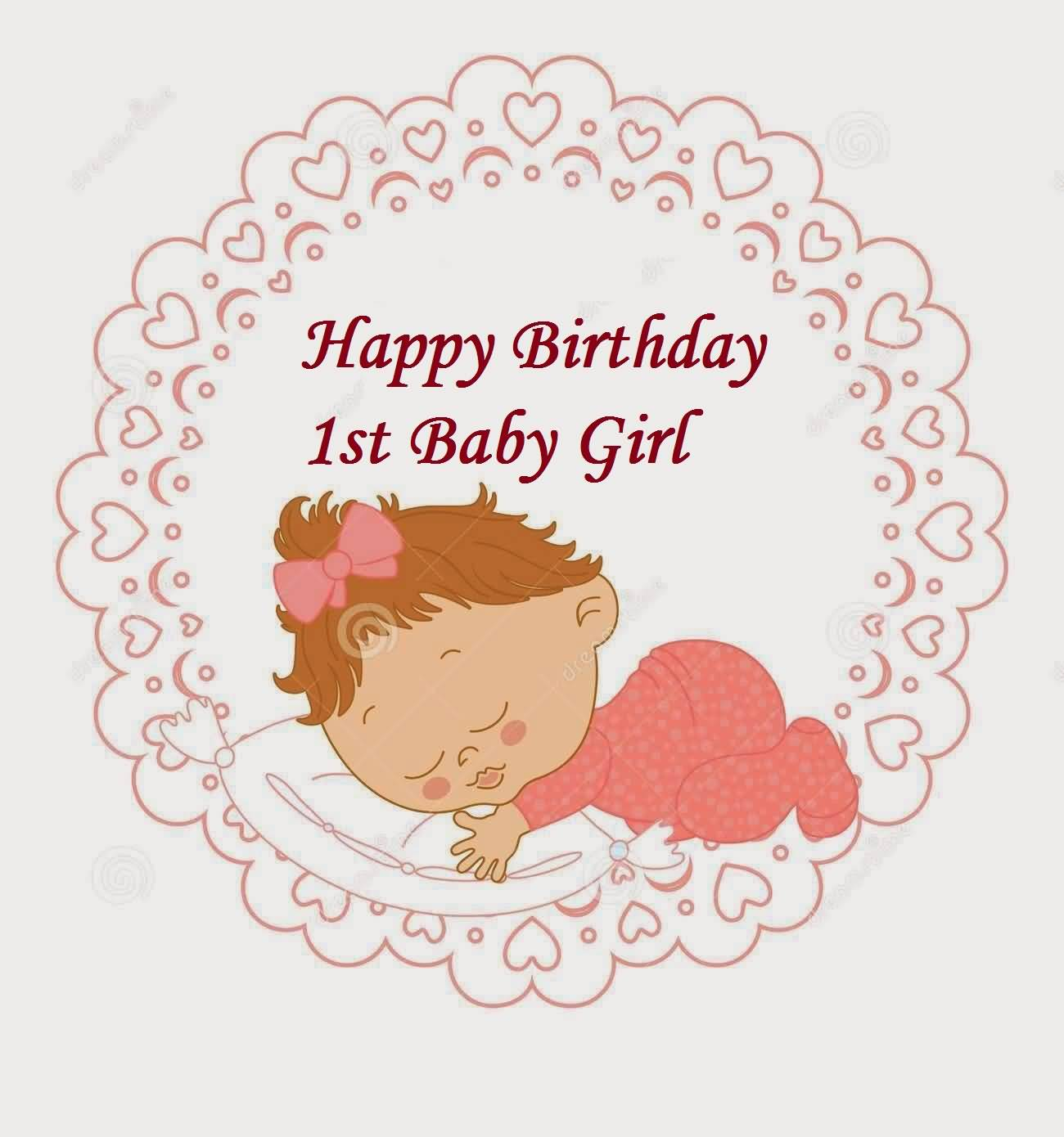 Cute E-Card Birthday Wishes For Baby Girl