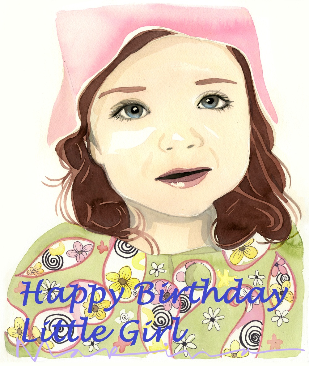 Cute Graphic Birthday Wishes For Little Girl