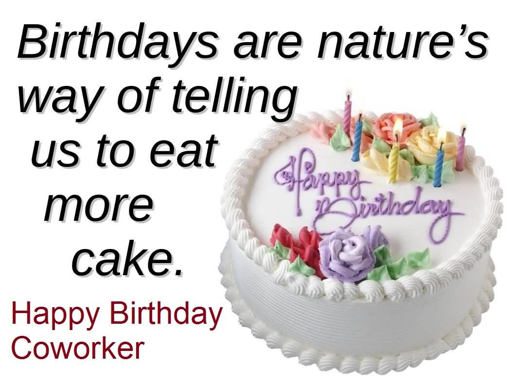 Delicious Cake Birthday Wishes For Coworker E-Card