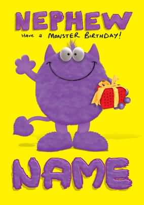Funny 4th birthday wishes for nephew e card nicewishes funny monster birthday wishes for nephew e card m4hsunfo