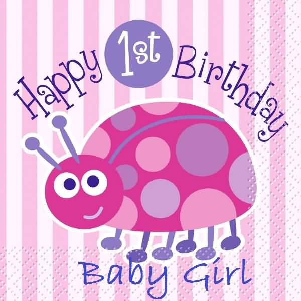 Lovely Graphic Birthday Wishes For Baby Girl
