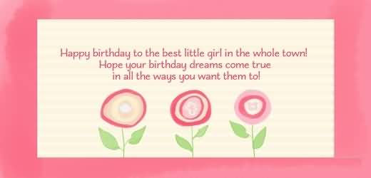 Lovely Greetings Birthday Wishes For Best Baby Girl