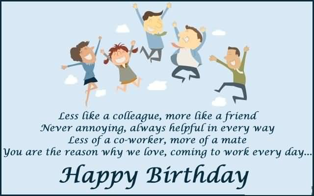 Coworker Birthday Card gangcraftnet – Birthday Greetings for Coworkers