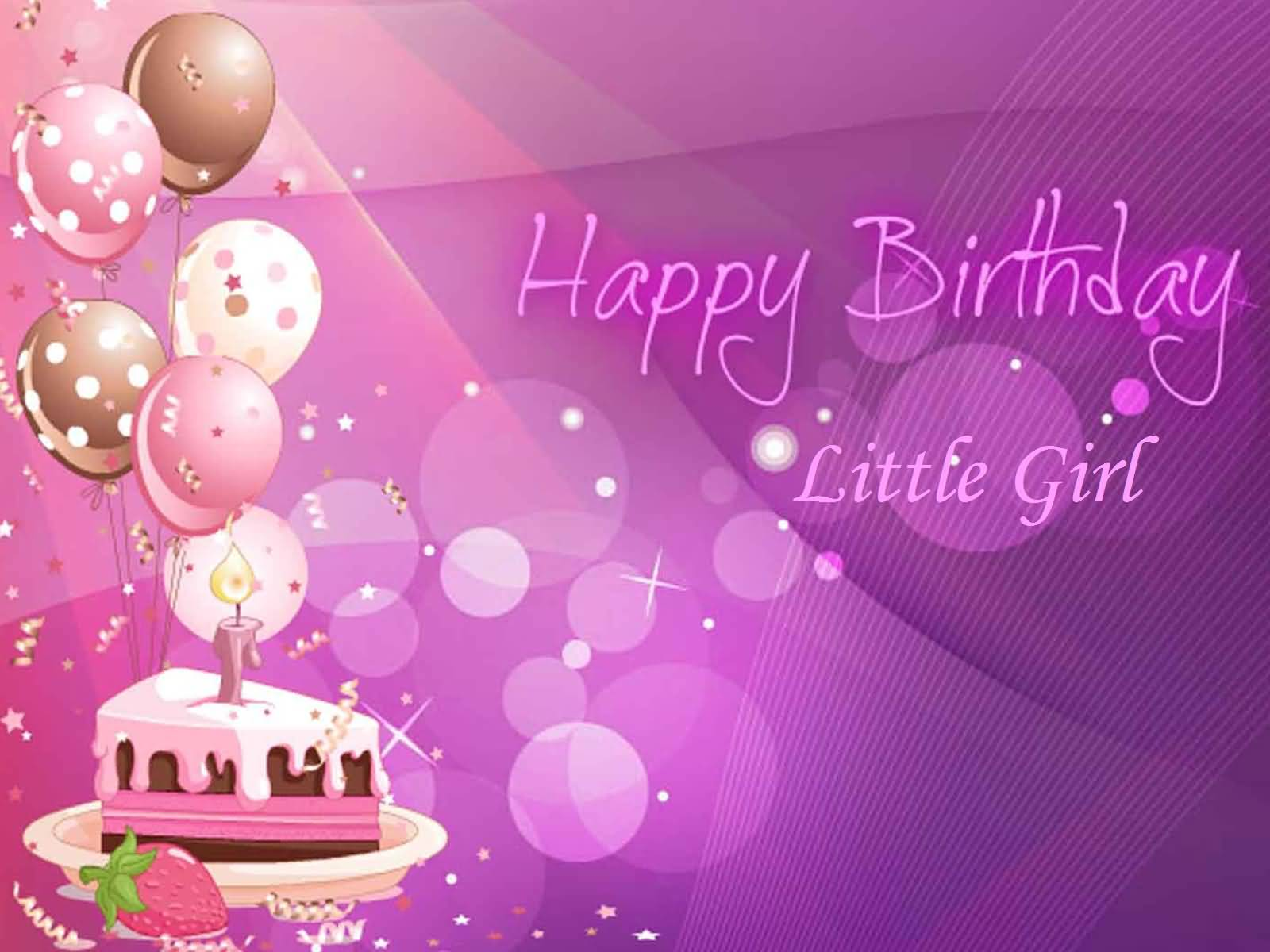 Nice Wishes For Little Girl Happy Birthday E-Card - NiceWishes