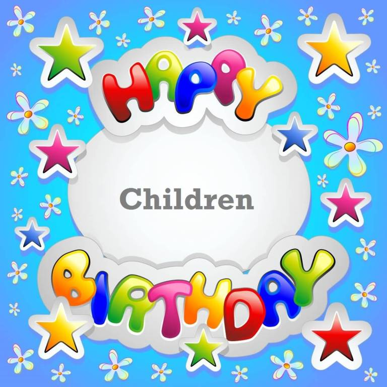 Nice E-Card Birthday Wishes For Children