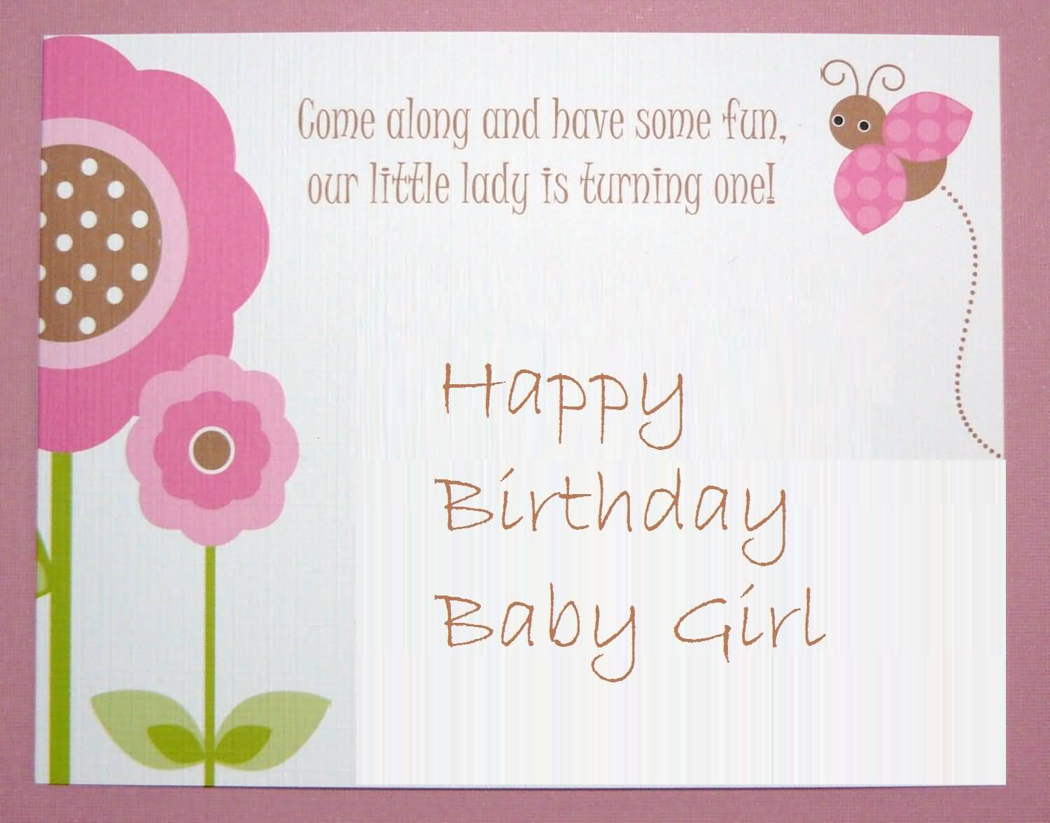 Nice Greetings Birthday Wishes For Baby Girl