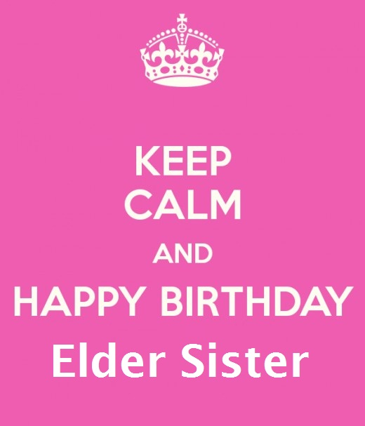 Nice Pink E-Card Birthday Wishes For Dear Elder Sister