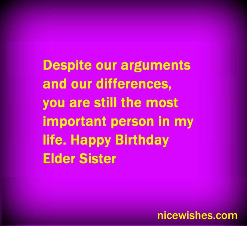 Nice Pink E-Card Birthday Wishes For Elder Sister