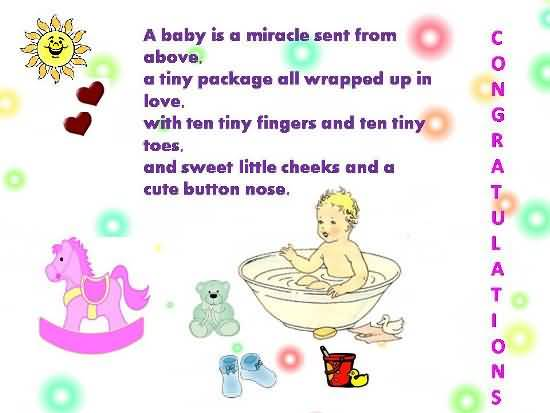 Nice Poem Birthday Wishes For Baby Boy E-Card