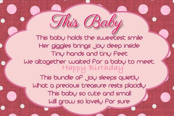 Nice Poem Birthday Wishes For Baby Girl Greetings