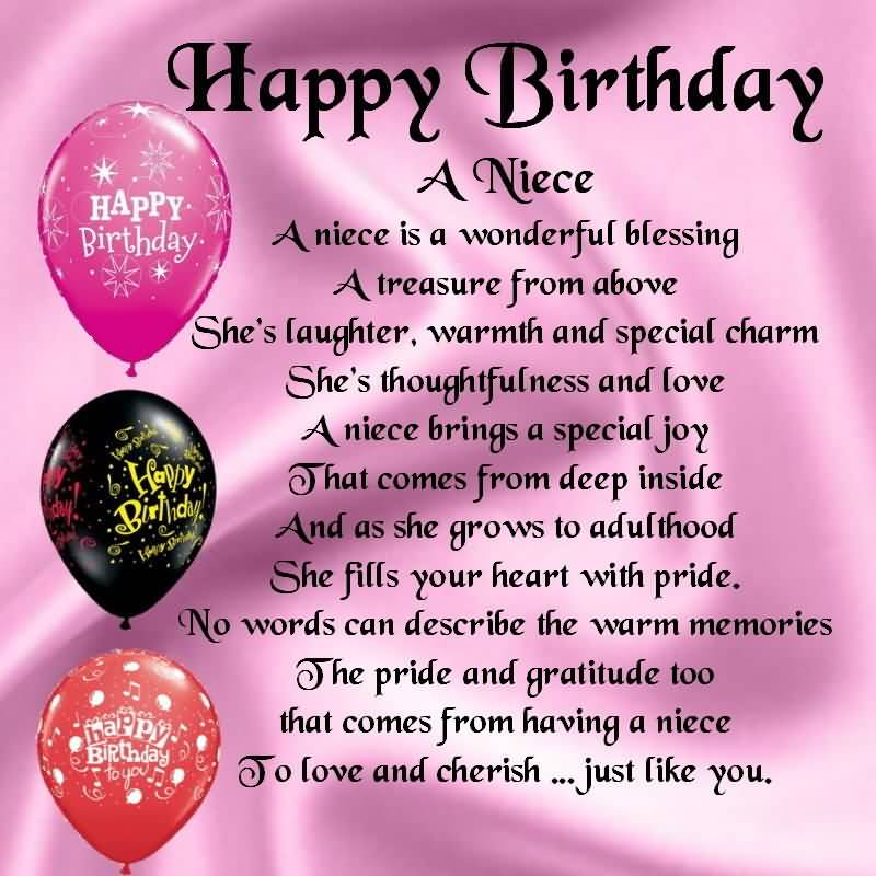 nice poem birthday wishes for niece greetings