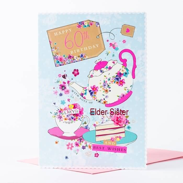 Simple E-Card Birthday Wishes For Elder Sister