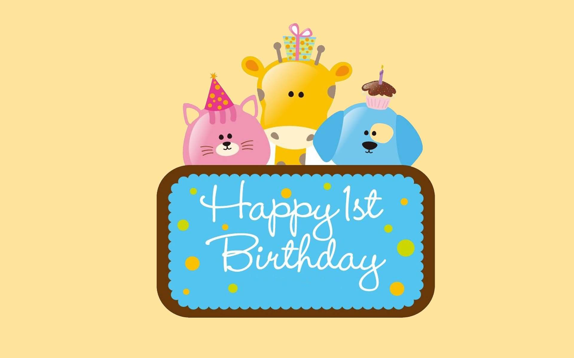 Awesome Funny Wallpaper Happy 1st Birthday NiceWishes