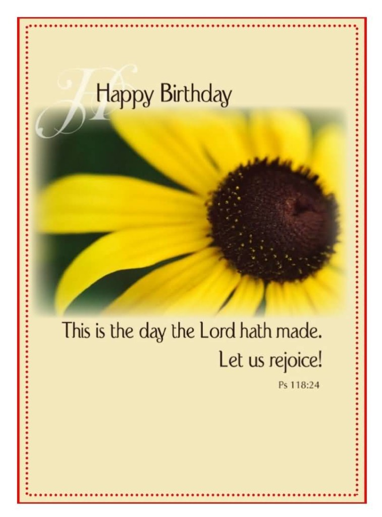 Beautiful Sun Flower Birthday Wishes For Christian