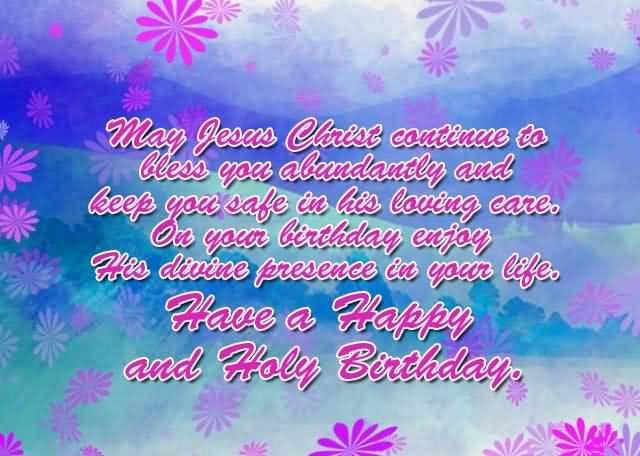 Nice Blessing Birthday Wishes For Christian Image
