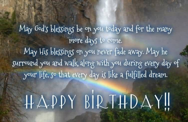 Nice Blessing Birthday Wishes For Christian