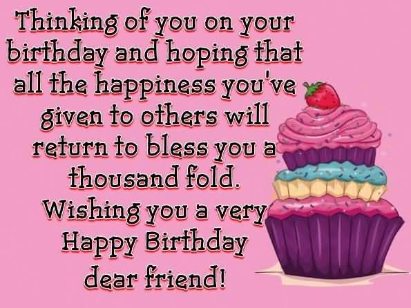 Thinking Of You Birthday Wishes For Christian Friend