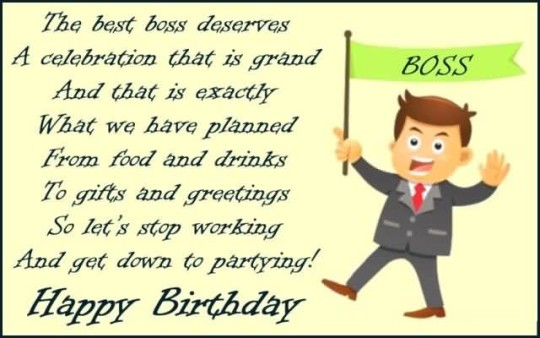 Awesome Birthday Poems For Boss