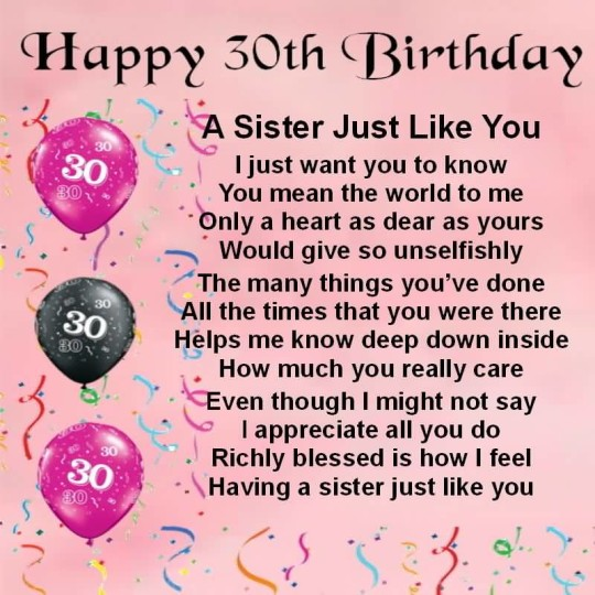 Awesome Birthday Poems For Sweet Sister