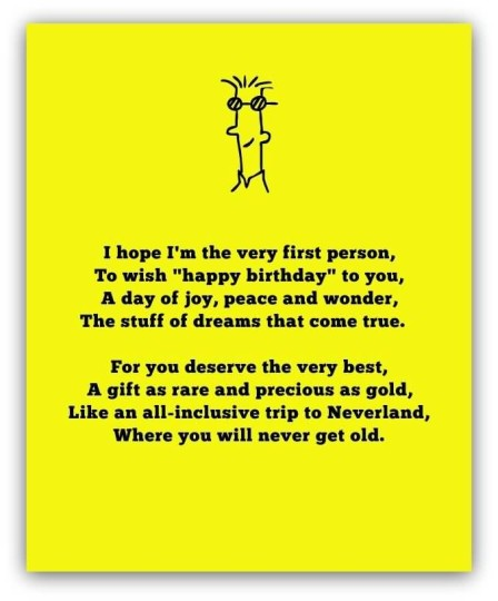 Funny Birthday Poems For Friend Nice Wishes