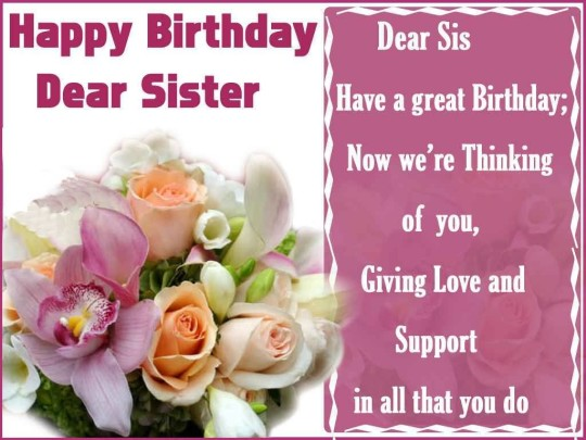 Best Birthday Quotes For Sister Image